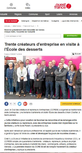 Alain Chartier chocolatier ouvre les portes des entrepreneurs