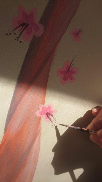 Vidéo d'une création – cerisier en fleur :)