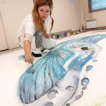 Apprendre à peindre en grand format à l'éponge , C'est ce weekend, inscrivez-vous!