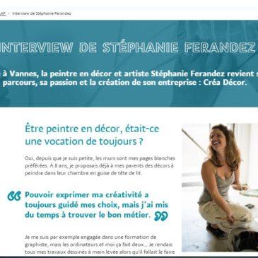 Interview MAAF Assurance France – Stéphanie porte-parole des Femmes dans l'Artisanat